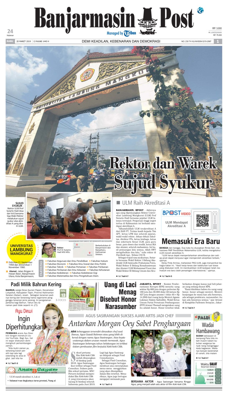 Banjarmasin Post Digital Newspaper 20 March 2019