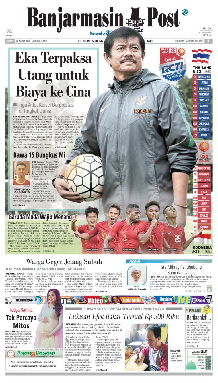 Banjarmasin Post Digital Newspaper 22 March 2019