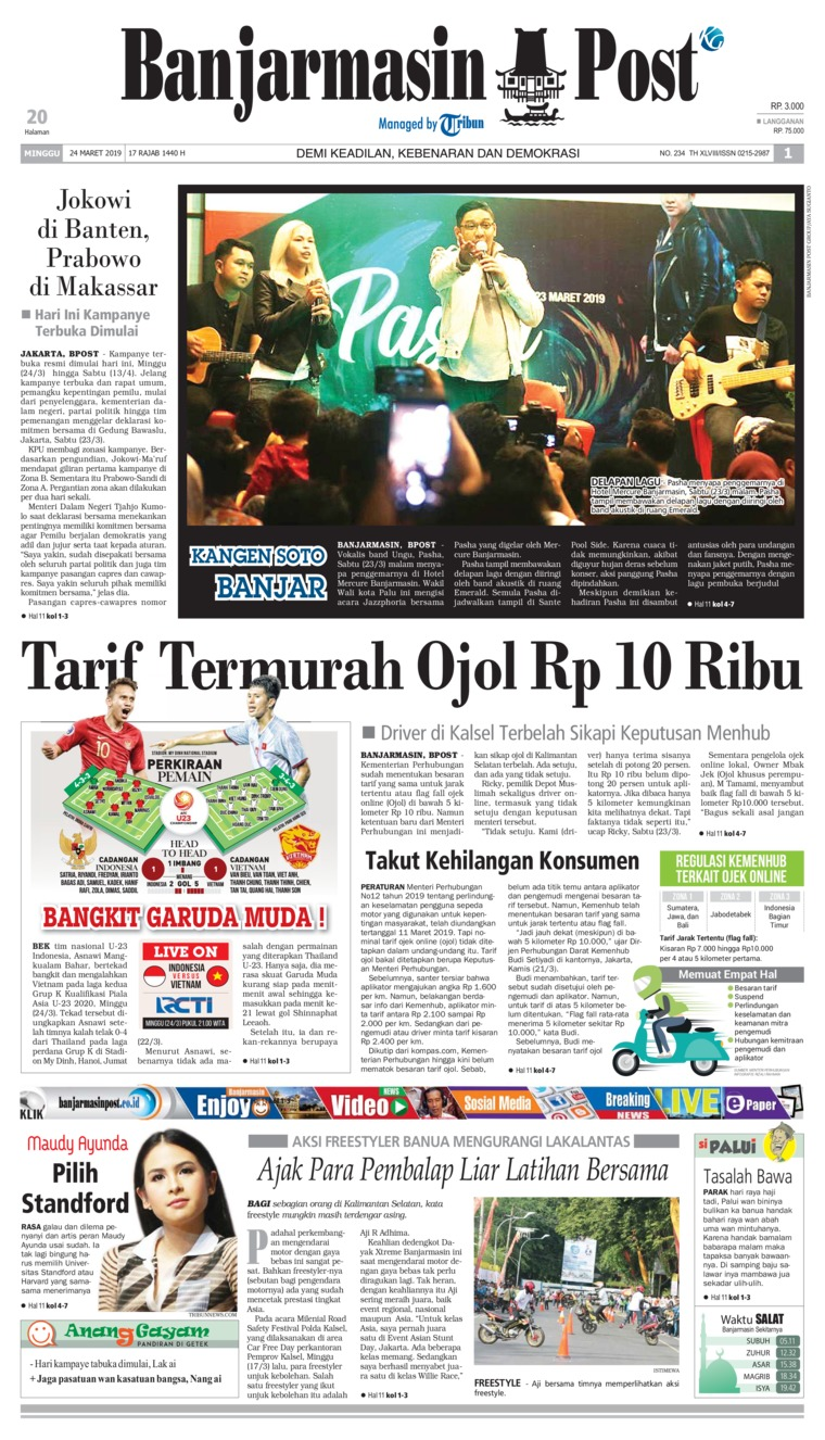 Banjarmasin Post Digital Newspaper 24 March 2019