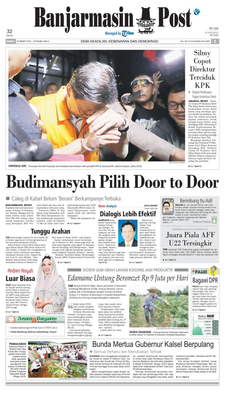 Banjarmasin Post Digital Newspaper 25 March 2019