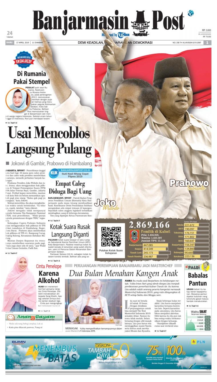 Banjarmasin Post Digital Newspaper 17 April 2019