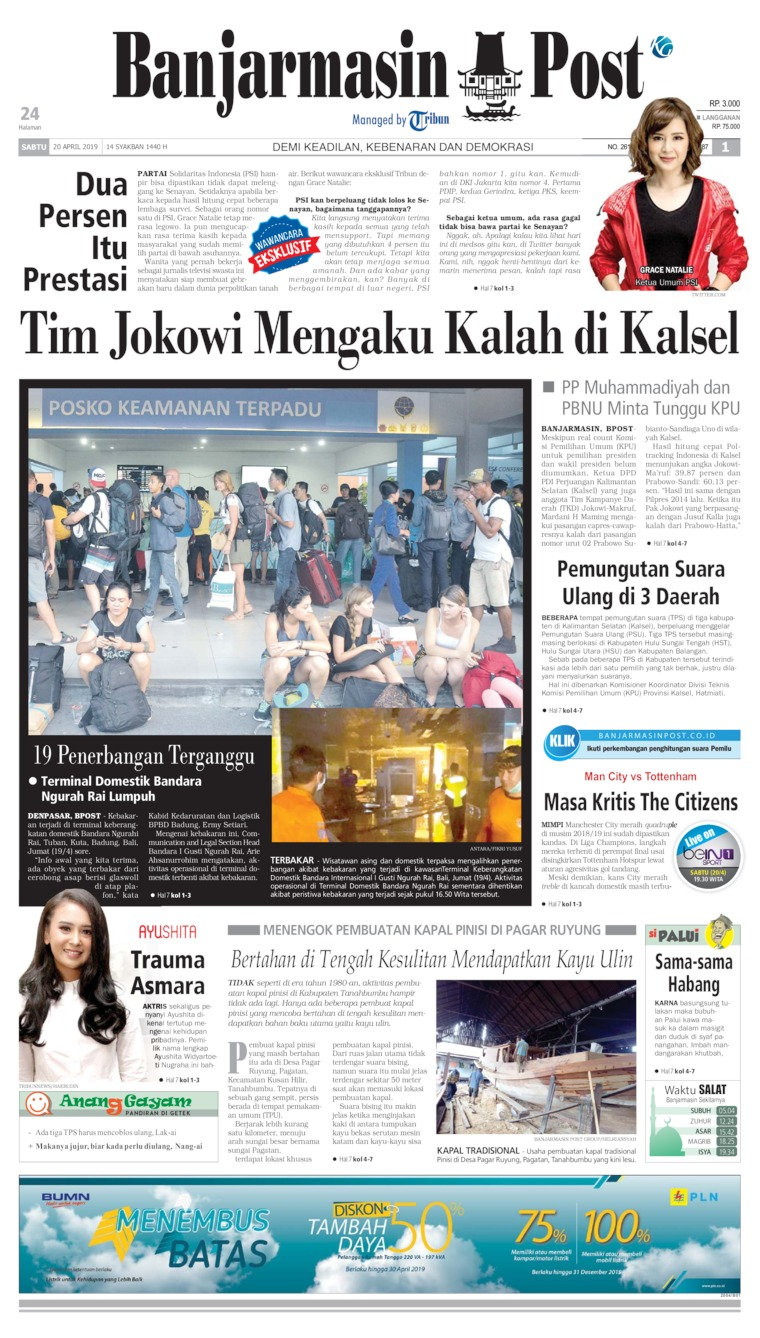 Banjarmasin Post Digital Newspaper 20 April 2019
