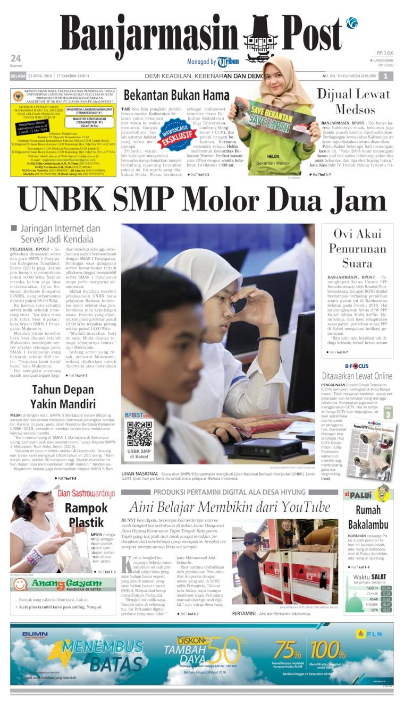 Banjarmasin Post Digital Newspaper 23 April 2019