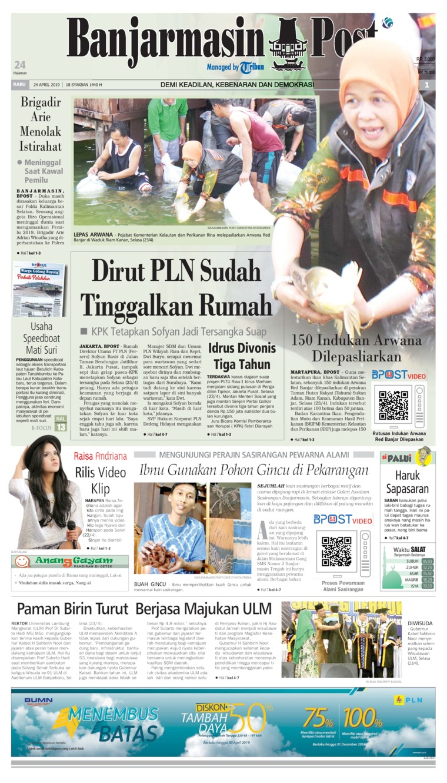 Koran Digital Banjarmasin Post 24 April 2019