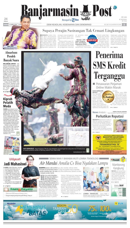 Koran Digital Banjarmasin Post 25 April 2019