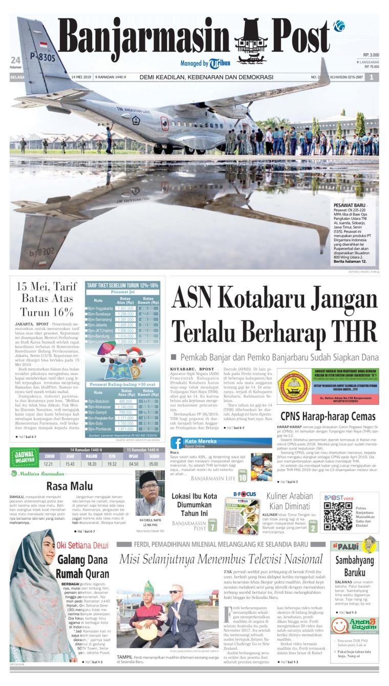 Koran Digital Banjarmasin Post 15 Mei 2019