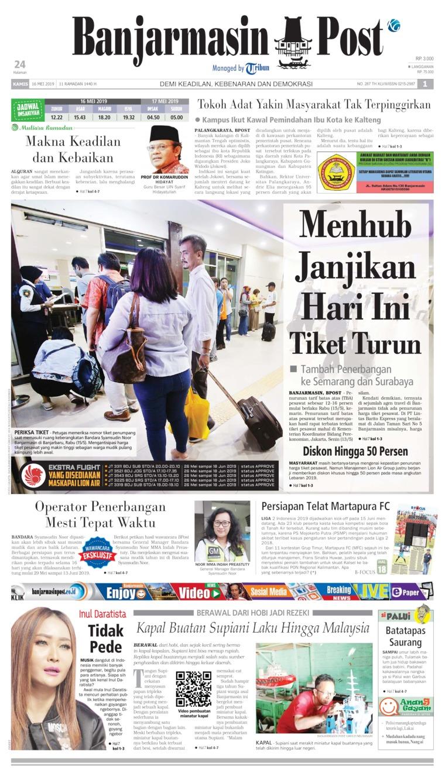 Koran Digital Banjarmasin Post 16 Mei 2019