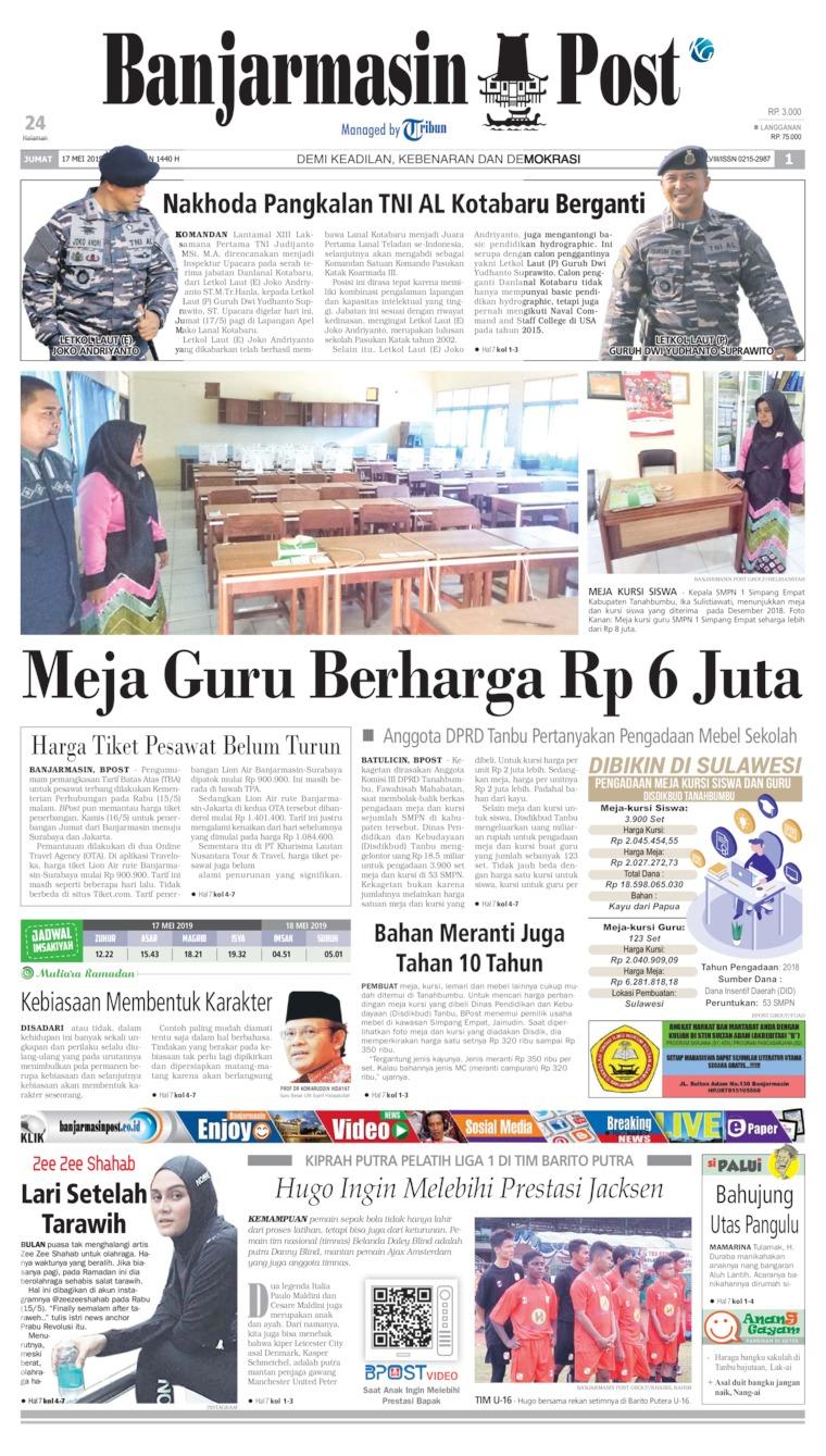 Koran Digital Banjarmasin Post 17 Mei 2019
