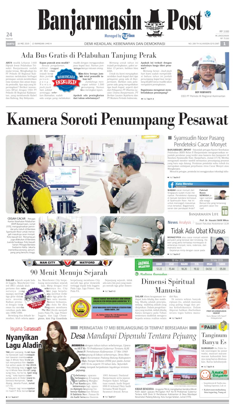Banjarmasin Post Digital Newspaper 18 May 2019