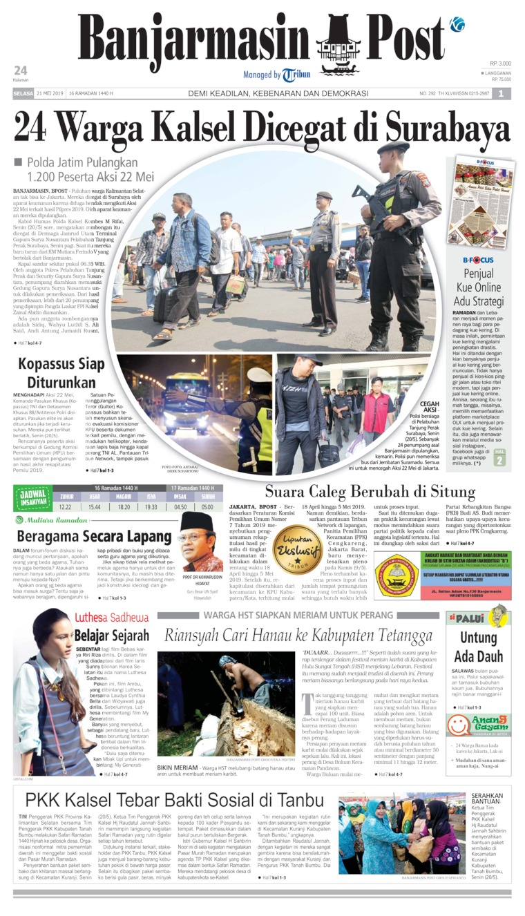 Banjarmasin Post Digital Newspaper 21 May 2019