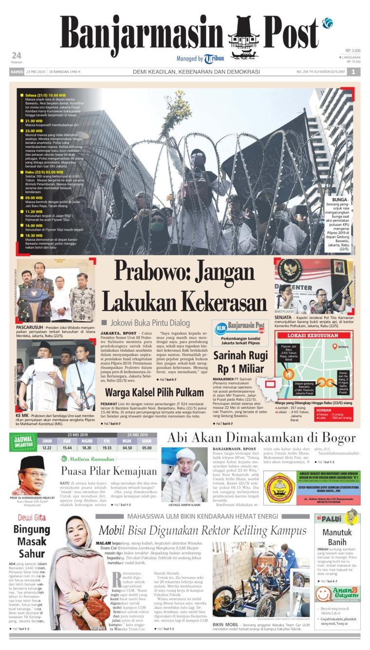 Banjarmasin Post Digital Newspaper 23 May 2019