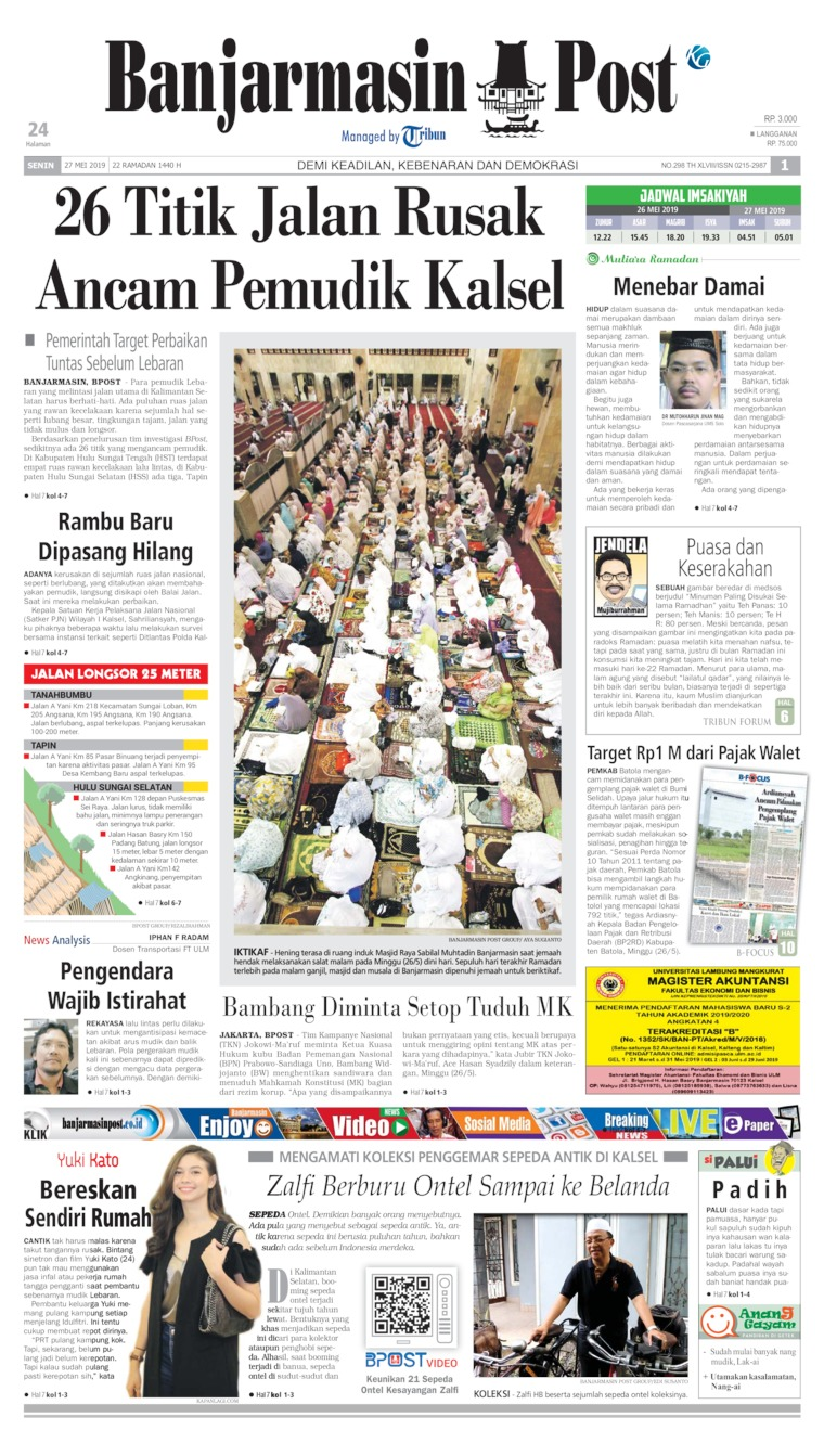 Banjarmasin Post Digital Newspaper 27 May 2019