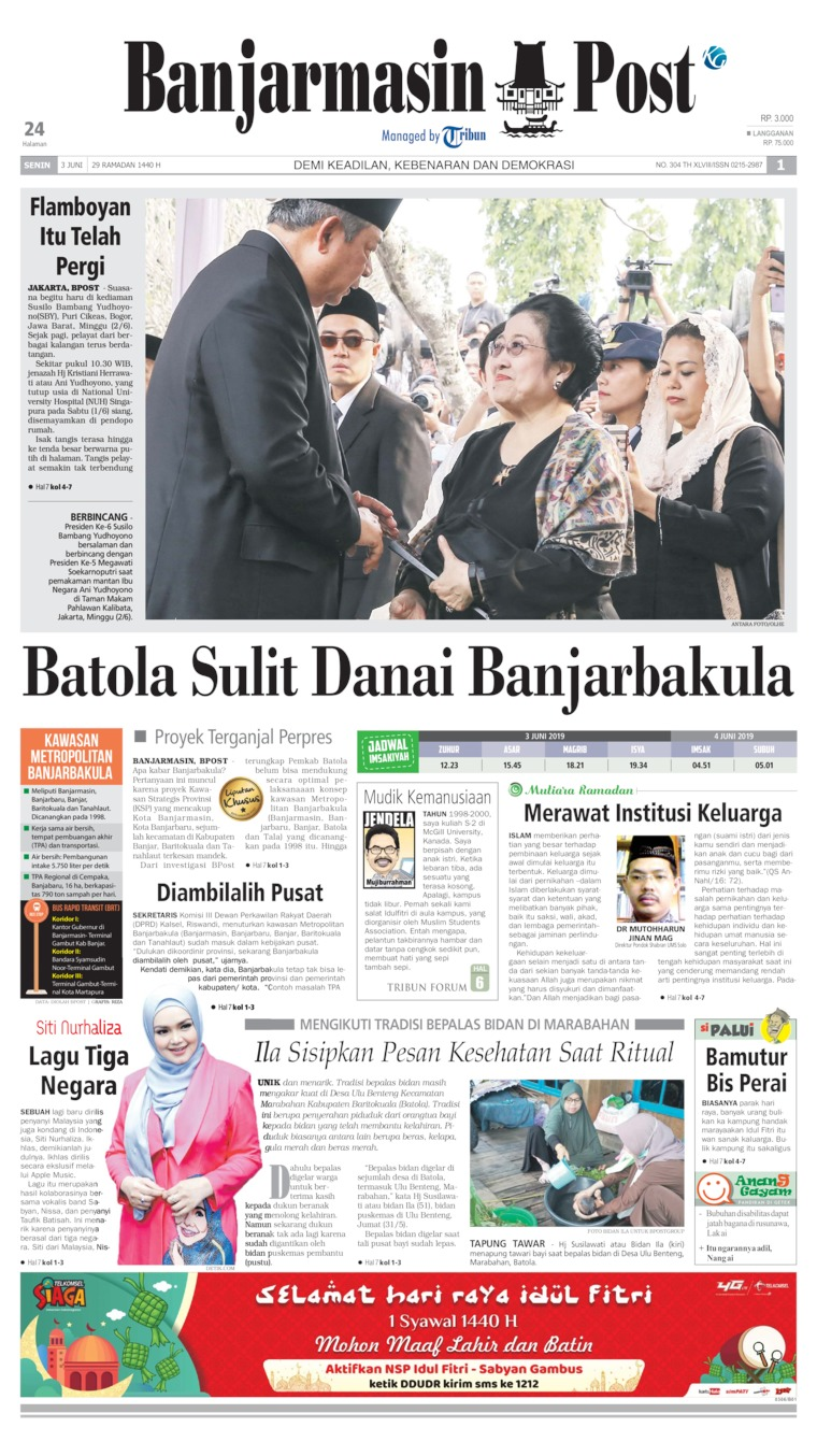 Koran Digital Banjarmasin Post 03 Juni 2019