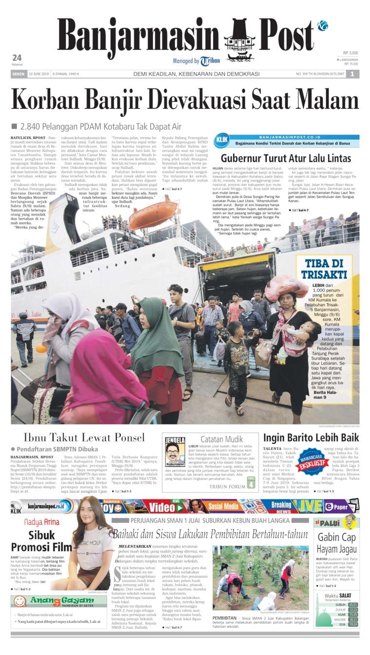 Koran Digital Banjarmasin Post 10 Juni 2019