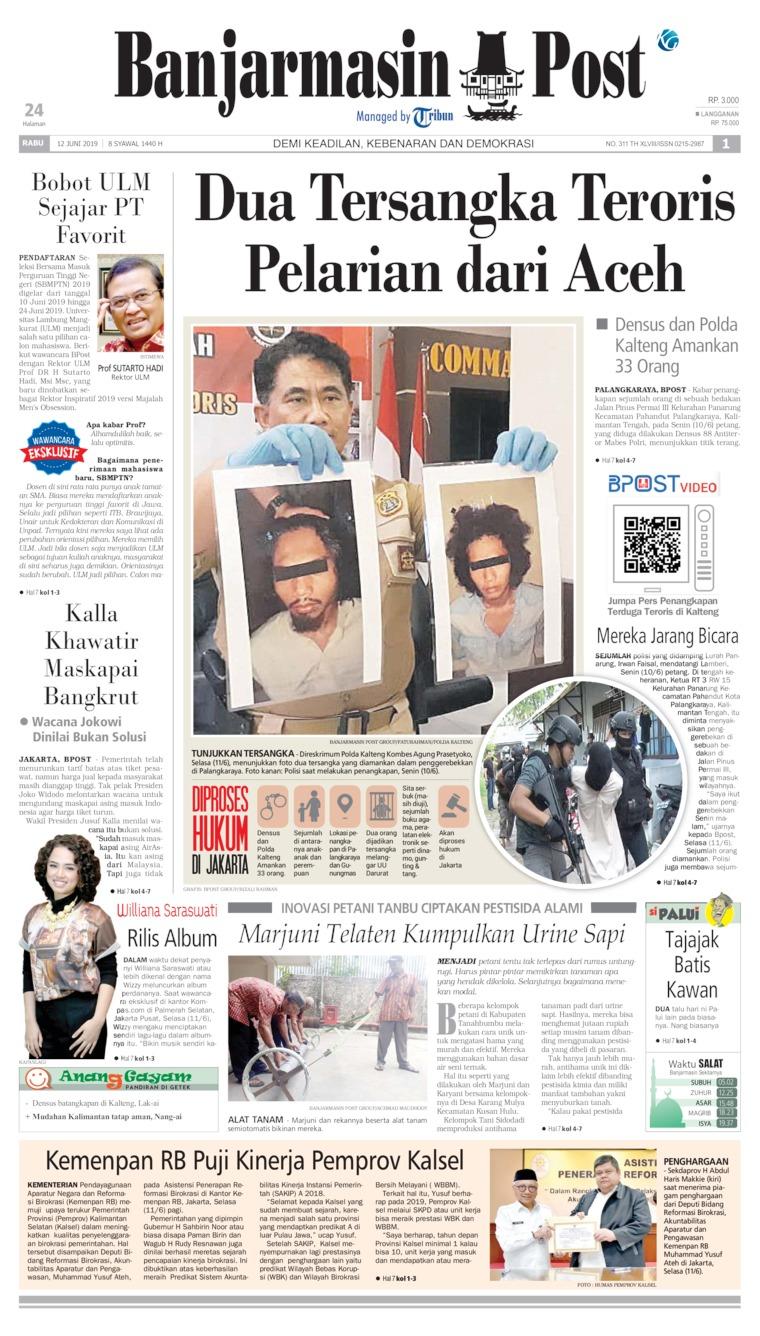 Koran Digital Banjarmasin Post 12 Juni 2019