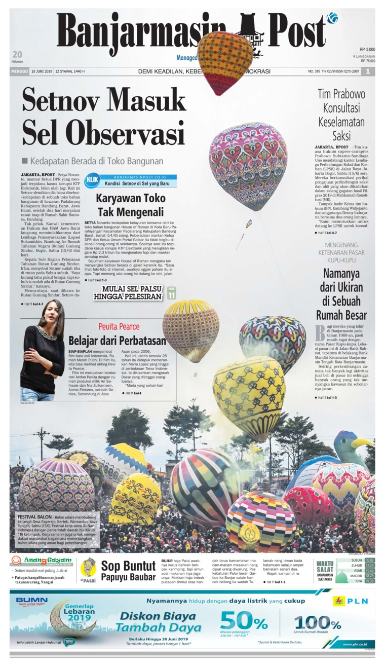 Banjarmasin Post Digital Newspaper 16 June 2019