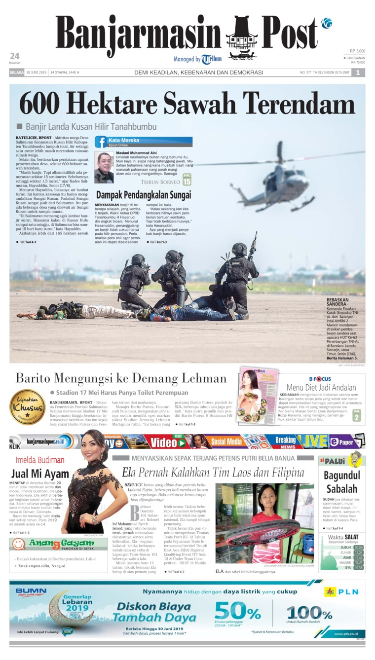 Banjarmasin Post Digital Newspaper 18 June 2019