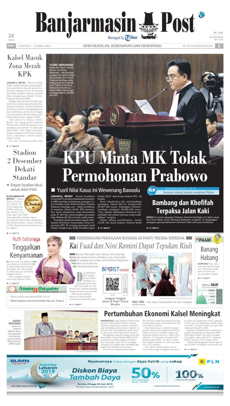 Koran Digital Banjarmasin Post 19 Juni 2019
