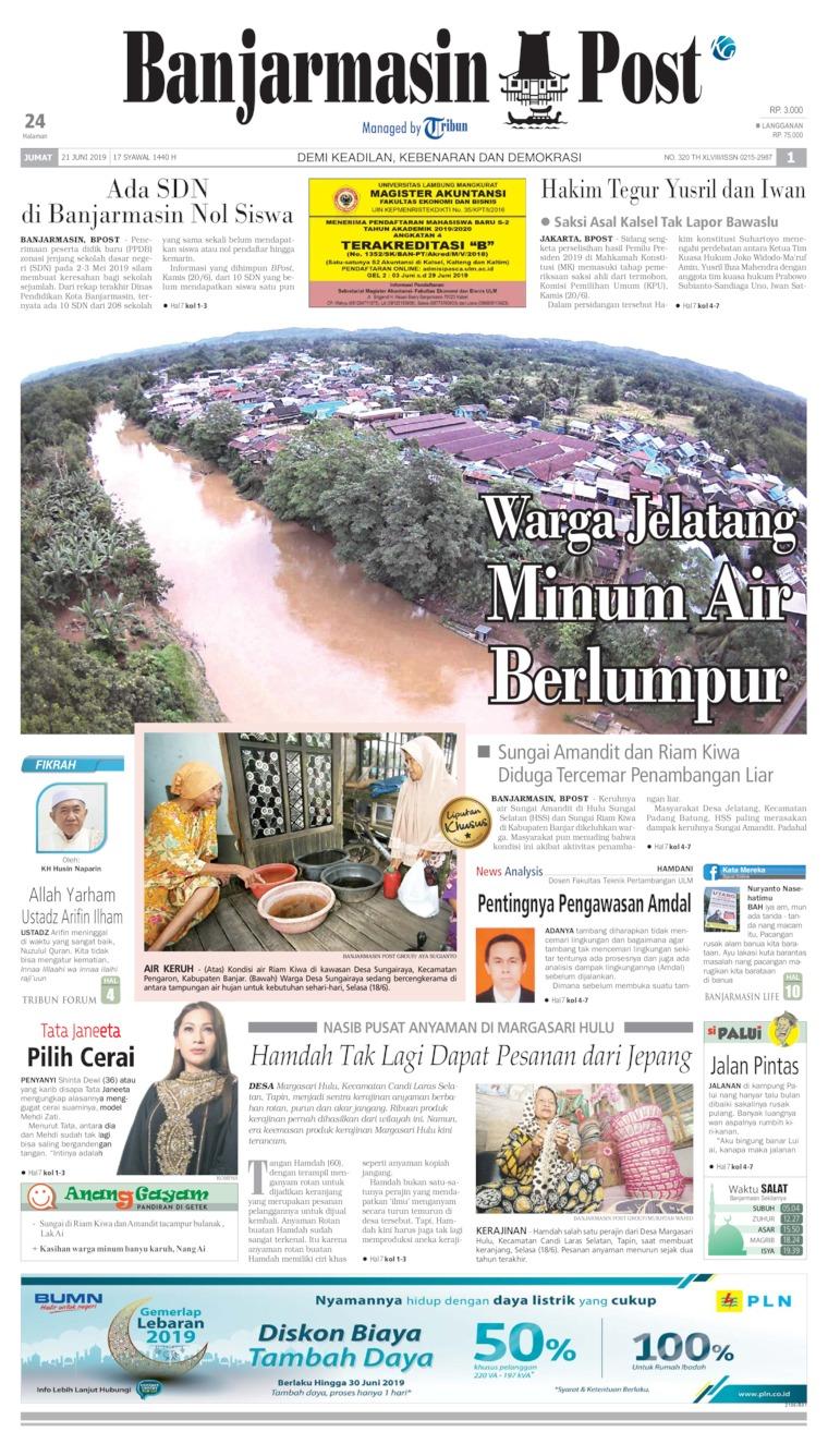 Koran Digital Banjarmasin Post 21 Juni 2019