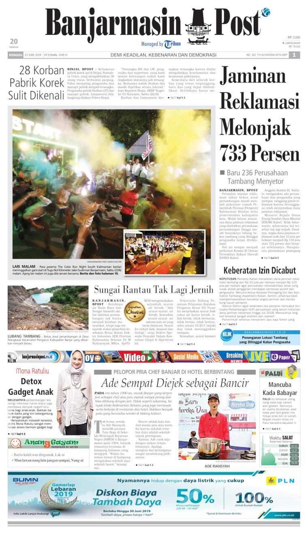 Koran Digital Banjarmasin Post 23 Juni 2019