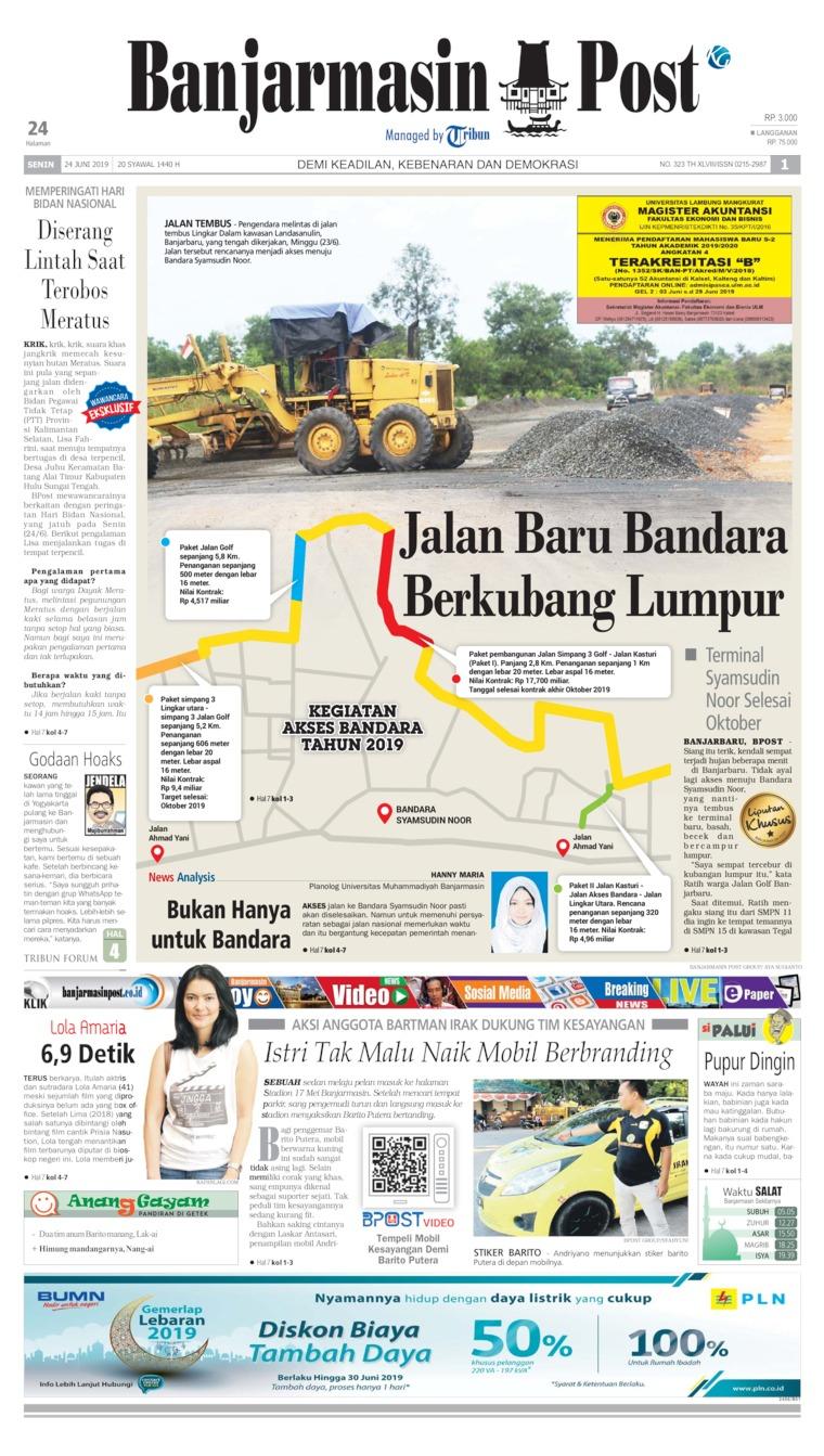 Koran Digital Banjarmasin Post 24 Juni 2019