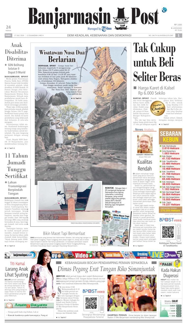 Banjarmasin Post Digital Newspaper 17 July 2019