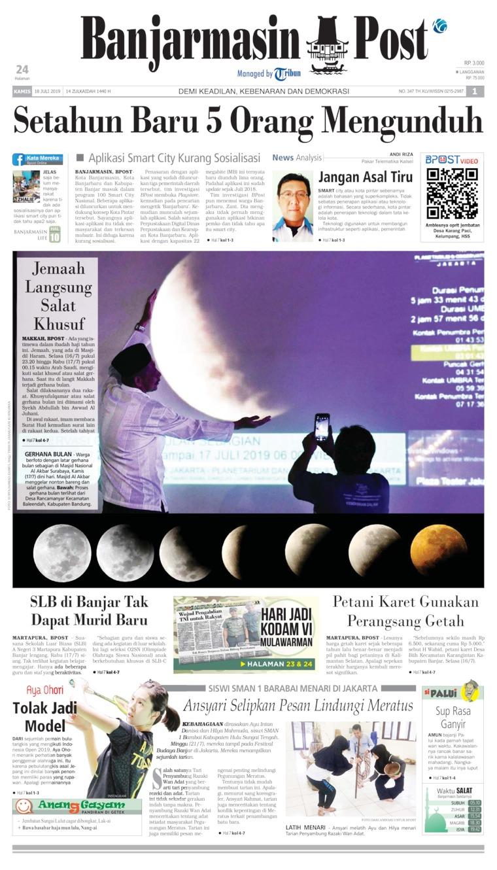 Banjarmasin Post Digital Newspaper 18 July 2019