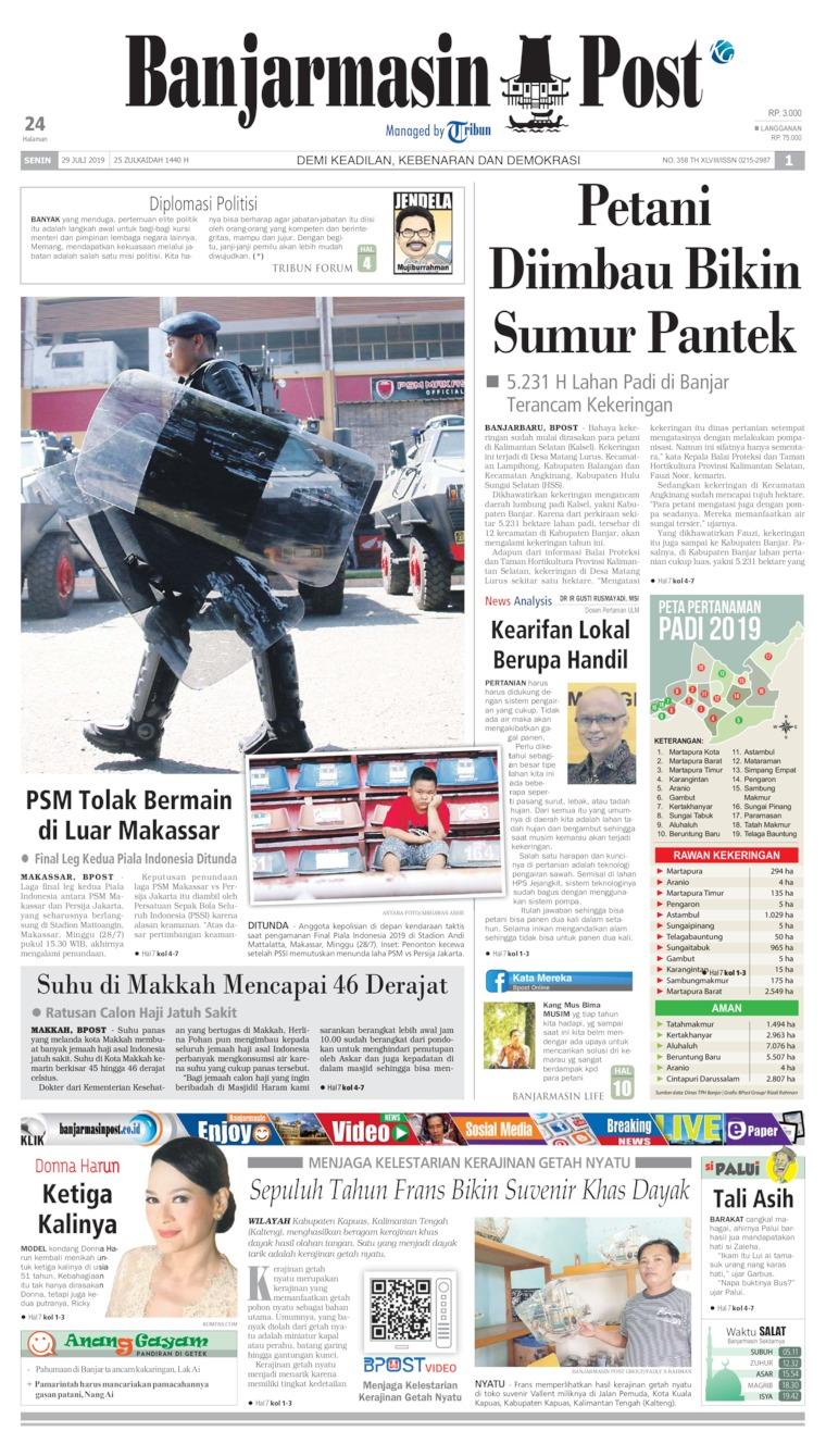 Koran Digital Banjarmasin Post 29 Juli 2019