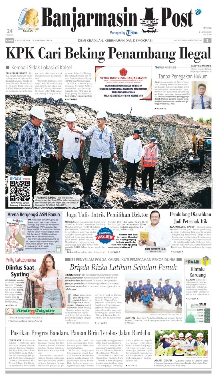 Koran Digital Banjarmasin Post 01 Agustus 2019