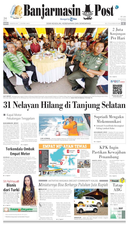 Koran Digital Banjarmasin Post 03 Agustus 2019