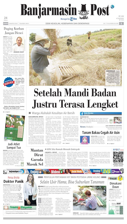 Koran Digital Banjarmasin Post 08 Agustus 2019