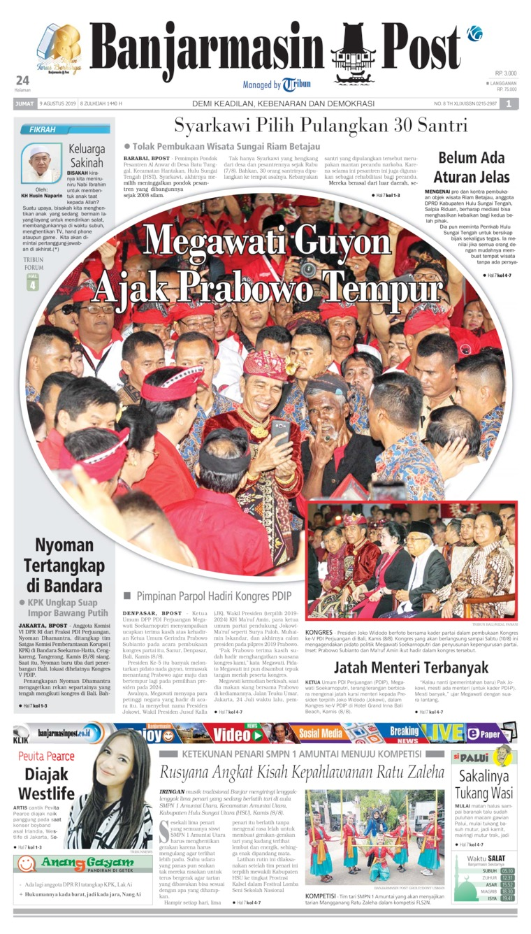 Banjarmasin Post Digital Newspaper 09 August 2019