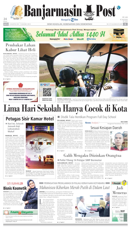 Banjarmasin Post Digital Newspaper 10 August 2019