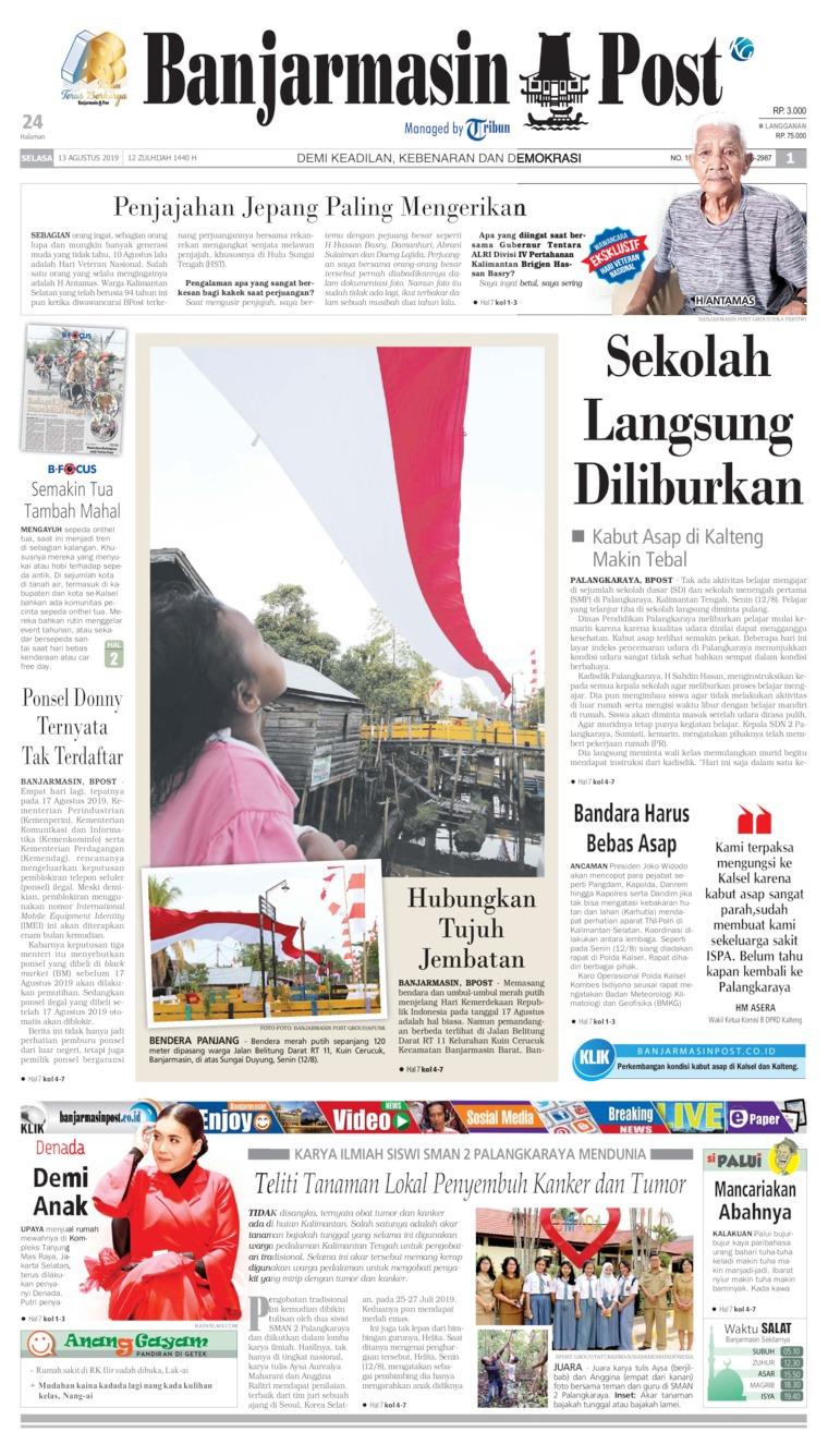 Koran Digital Banjarmasin Post 13 Agustus 2019