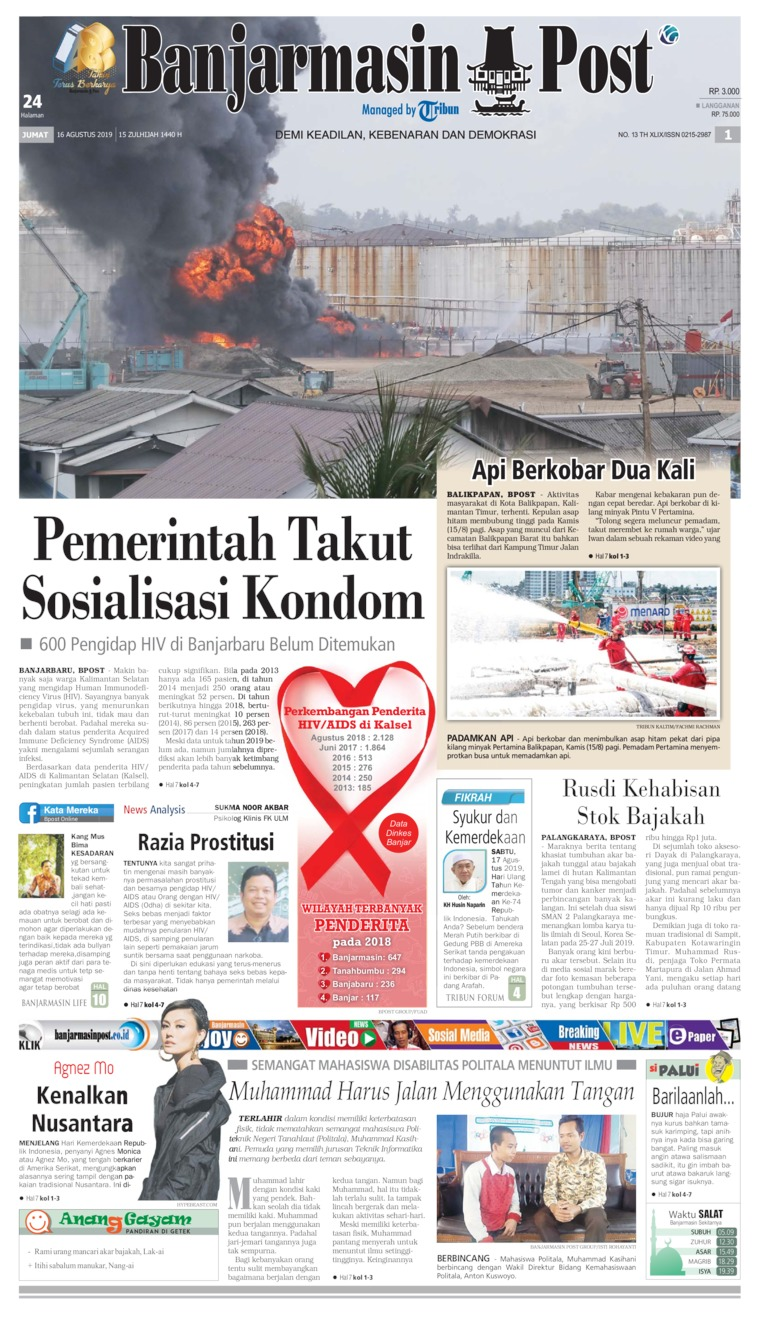 Banjarmasin Post Digital Newspaper 16 August 2019