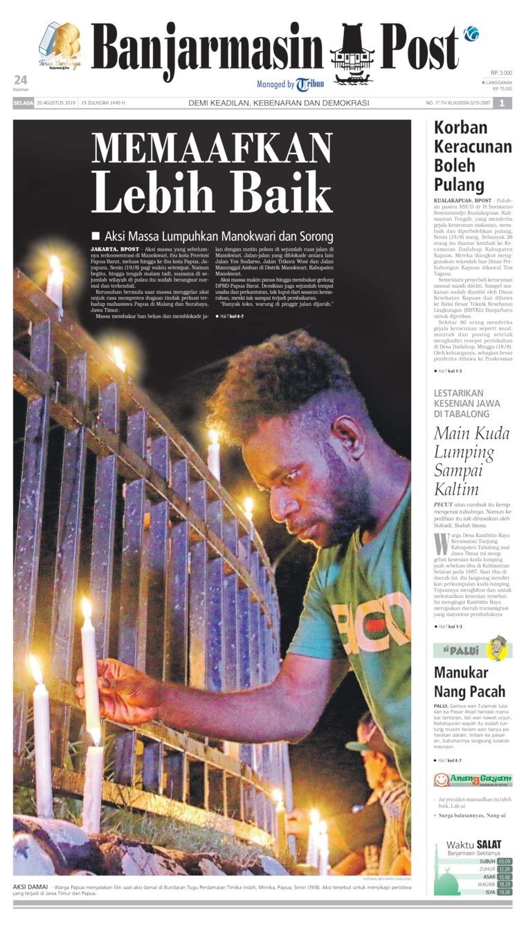 Koran Digital Banjarmasin Post 20 Agustus 2019