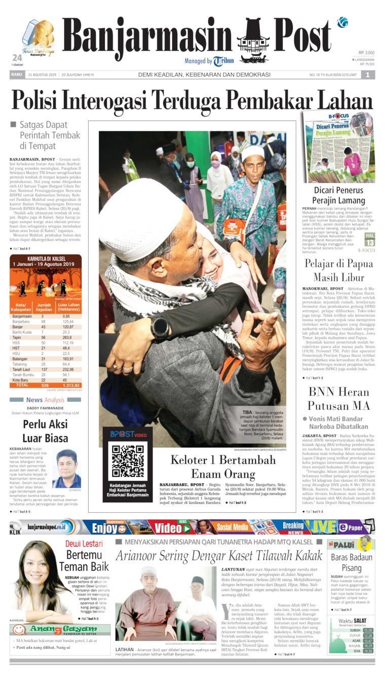 Banjarmasin Post Digital Newspaper 21 August 2019