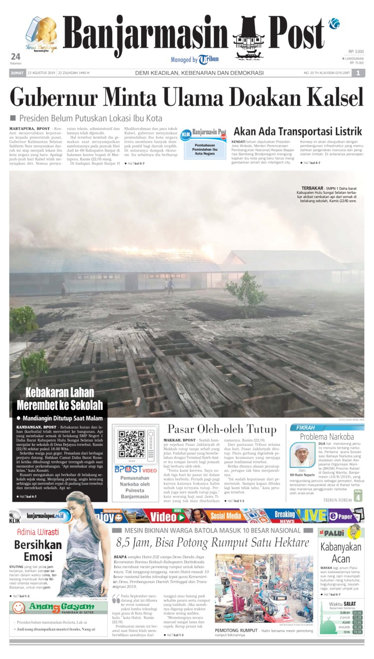 Banjarmasin Post Digital Newspaper 23 August 2019