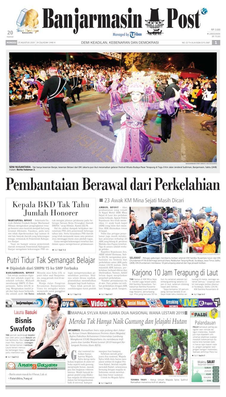 Koran Digital Banjarmasin Post 25 Agustus 2019
