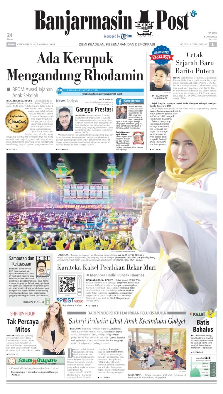 Koran Digital Banjarmasin Post 09 September 2019