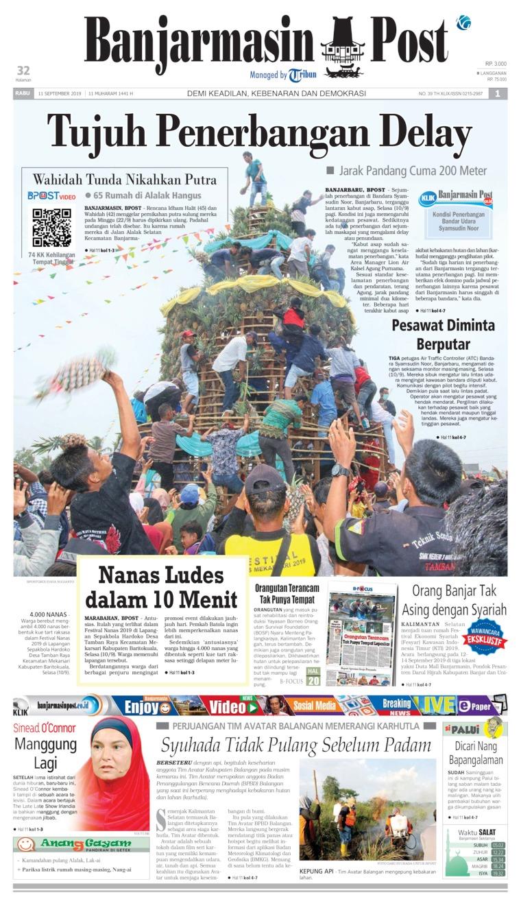 Koran Digital Banjarmasin Post 11 September 2019