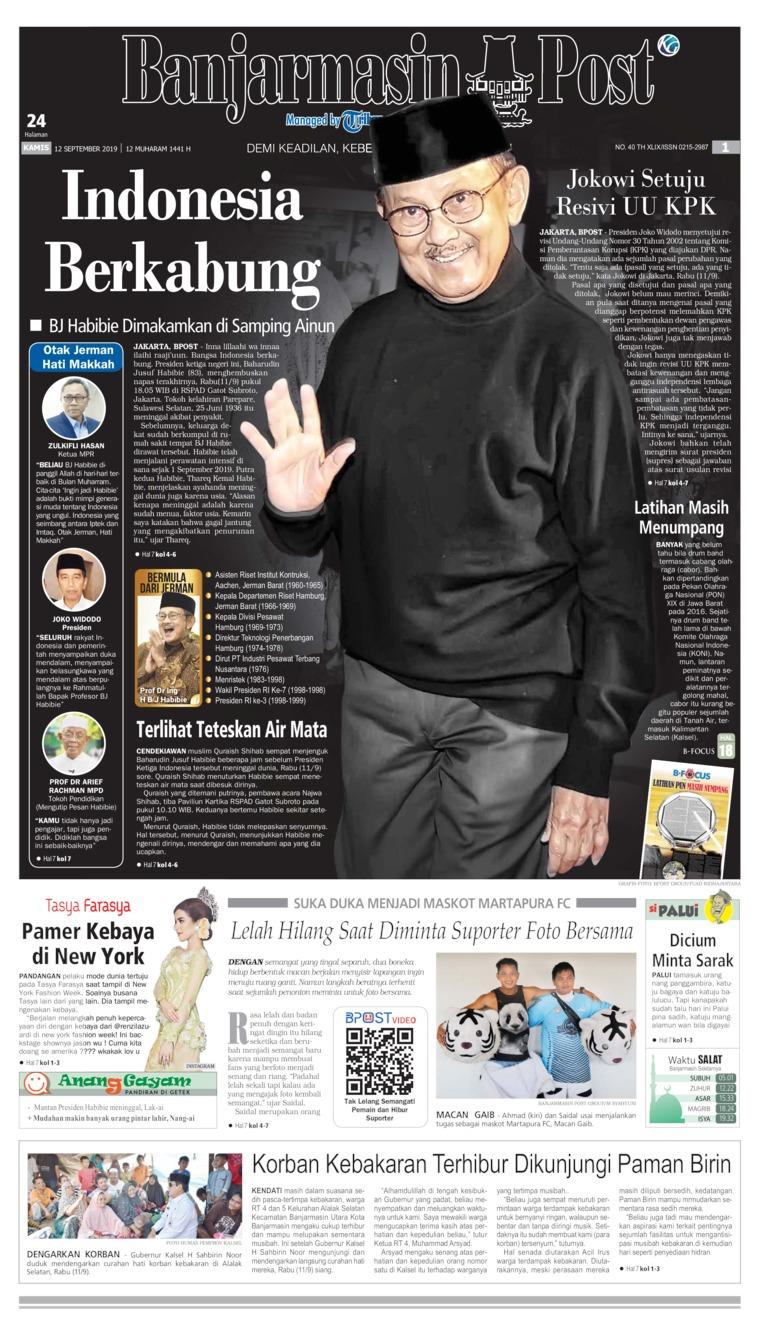 Koran Digital Banjarmasin Post 12 September 2019