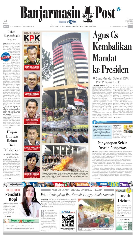 Koran Digital Banjarmasin Post 14 September 2019