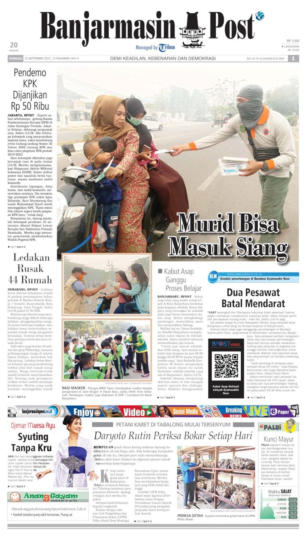 Koran Digital Banjarmasin Post 15 September 2019