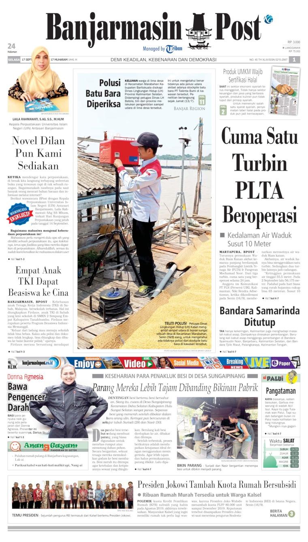 Koran Digital Banjarmasin Post 17 September 2019