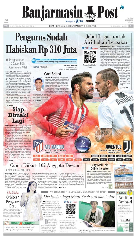 Koran Digital Banjarmasin Post 18 September 2019