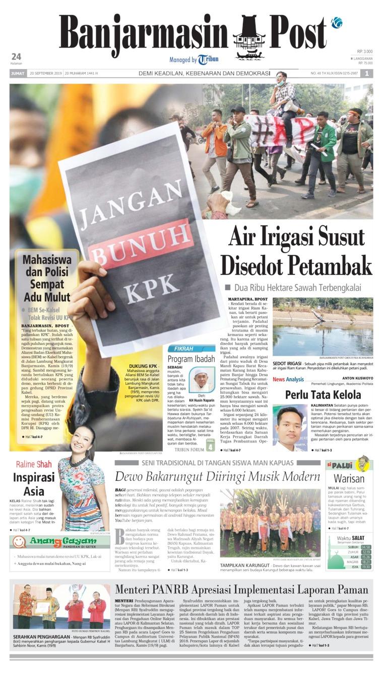 Koran Digital Banjarmasin Post 20 September 2019