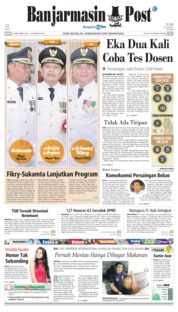 Cover Banjarmasin Post 20 September 2018