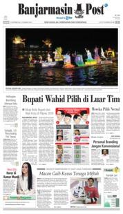 Cover Banjarmasin Post 23 September 2018