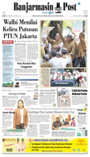 Cover Banjarmasin Post 24 Oktober 2018